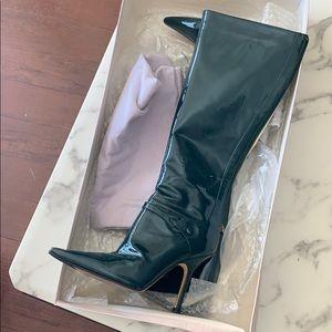 Jimmy Choo green ruben calf boots